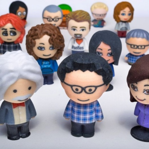 3D Printed Bobbleheads via Amazon 3D Printed Products store