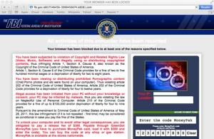 FBI ransomware page