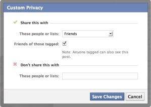 Facebook per post blocking