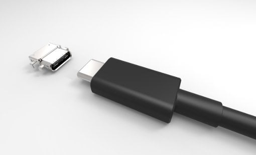 USB Type-C plug and receptacle