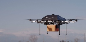 Amazon delivery by unmanned drone