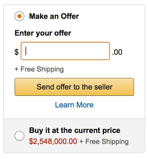 Amazon's Make an Offer box