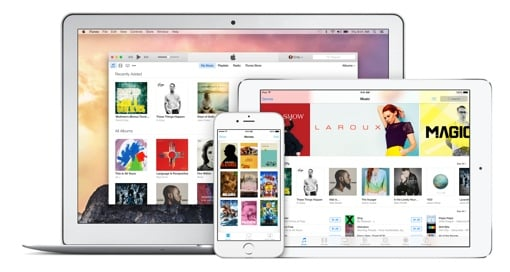 Apple iTunes on computer, tablet and iPhone