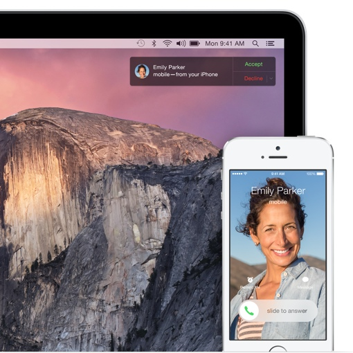 Apple OS X Mavericks phone call