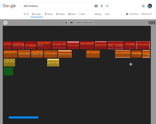 Atari Breakout in Google image search