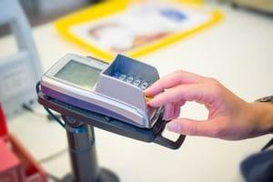 Store credit card processing terminal