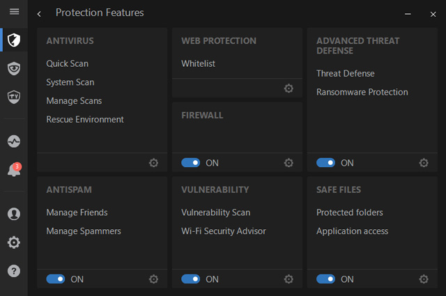 bitdefender protection features