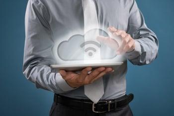 Cloud storage concept image