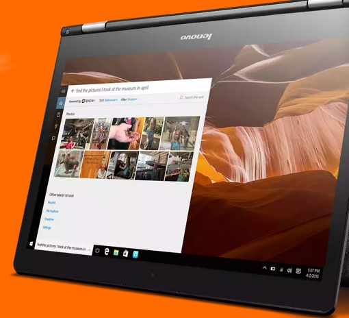 Cortana Lenovo REACHit search