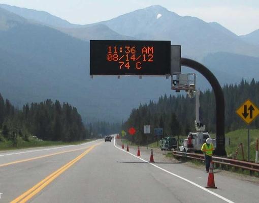 Daktronics Road Sign in Colorado