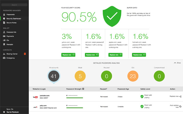 Techlicious Pick for Best Password Manager: Dashlane