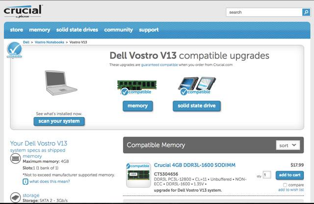 Dell Vostro memroy configuration