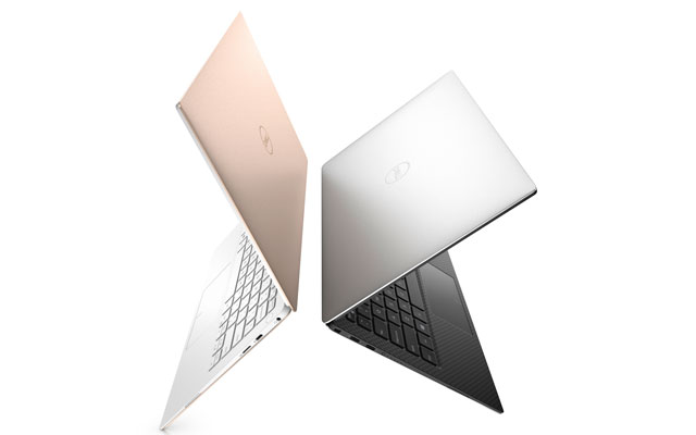 Dell XPS13 laptop in rose gold Ces 2018