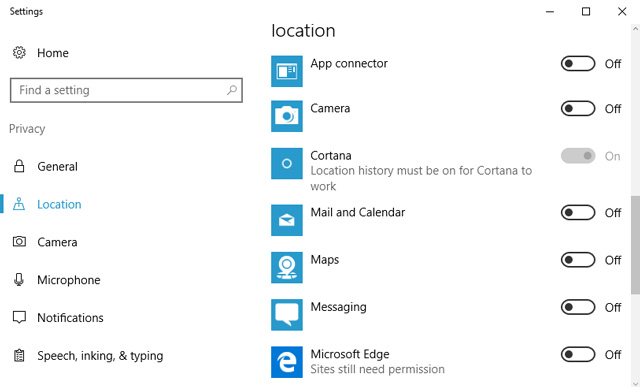 Microsoft location tracking