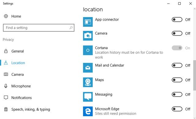 Microsoft location tracking