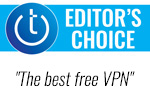 Techlicious Editor's Choice award logo with quote - the best free VPN