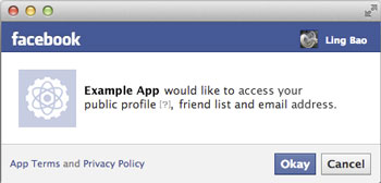Facebook application read permission