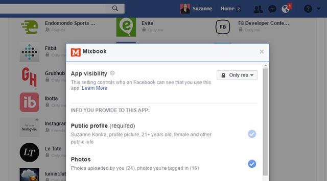 Adjust Facebook App permissions