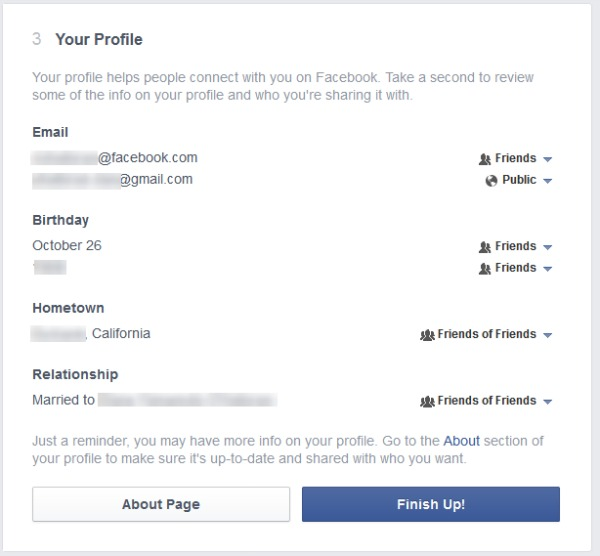 facebook and privacy In may 2010, facebook added privacy controls and streamlined its privacy settings, giving users more ways to manage status updates and other information that is broadcast to the public news feed among the new privacy settings is the ability to control who sees each new status update a user posts: everyone, friends of friends, or friends only.