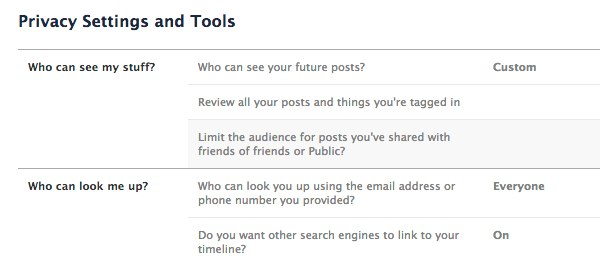 The Guide to Facebook Privacy Settings 2013