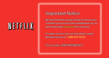 Fake Netflix warning