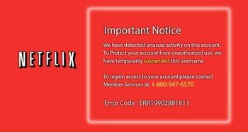 Fake Netflix warning