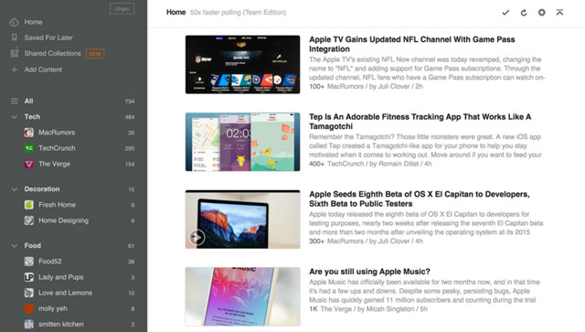 Feedly News Aggregator for Browser