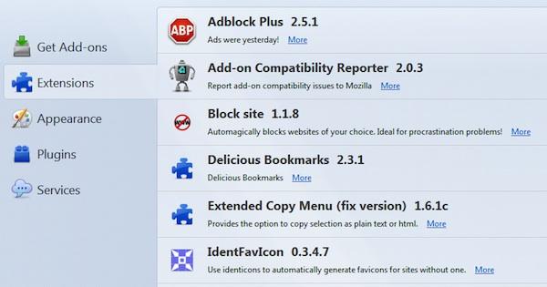 Firefox Addons List