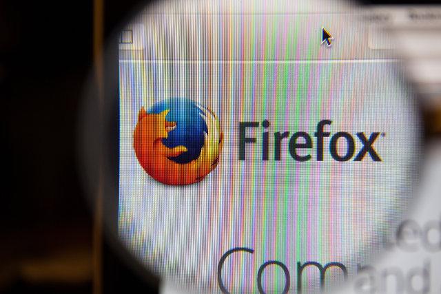 Mozilla Firefox icon closeup
