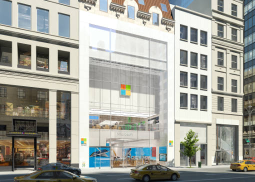 Microsoft Store in New York (front facade)