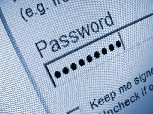 Generic password entry screen