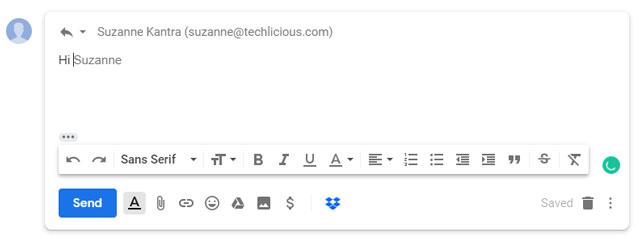 Gmail autofill