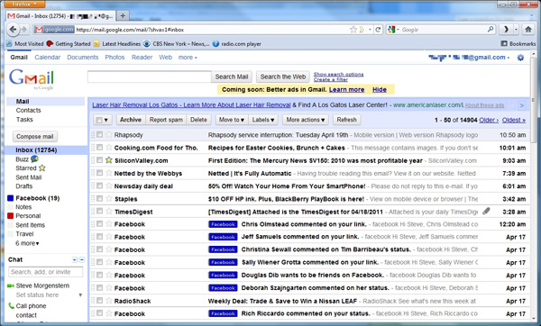 Gmail search archived mail only sweepstakes