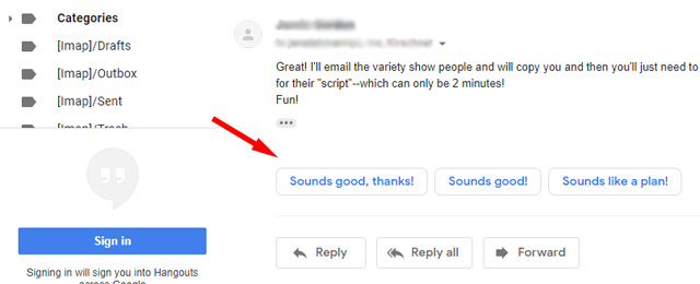 Gmail Smart Replies