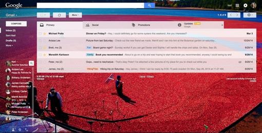 Cranberry Bog Gmail Theme