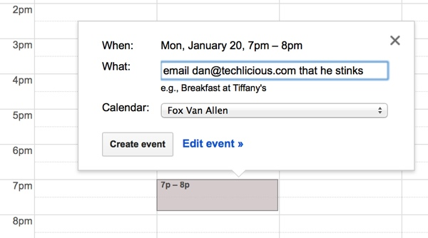 Google Calendar email glitch in action