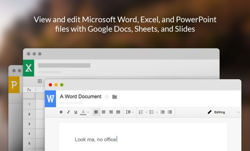 View and edit Office docs with Google