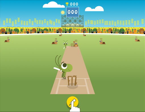 Google Doodles Cricket