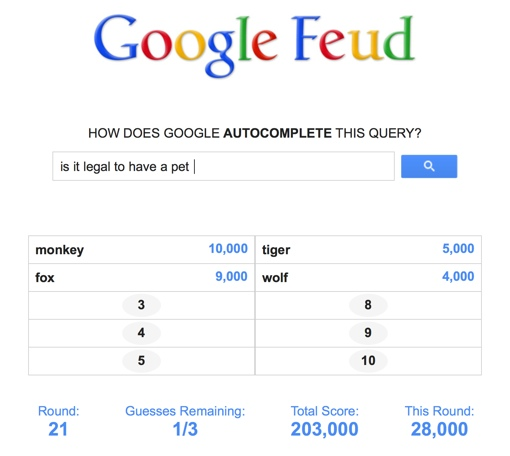 Google Feud' Turns Search Autocompletes Into a Game of
