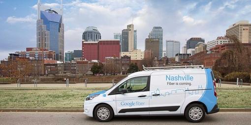 Google Fiber truck in Nashville, TN
