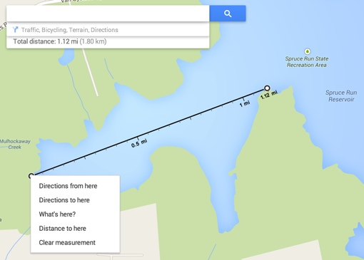 Google Maps Distance Measurement