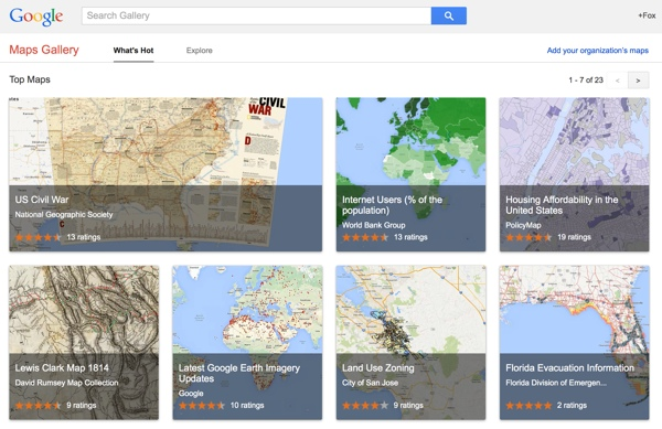 Google Maps Gallery screenshot