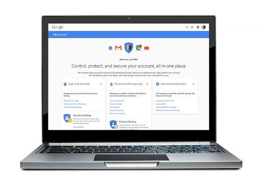 Google MyAccount security settings