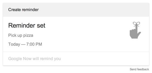 Google Now reminder via Chrome