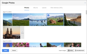 Google Photos in Gmail