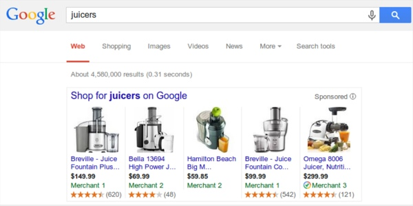 Google shopping ratings