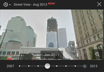 Google Street View of NYC's Freedom Tower, 2011