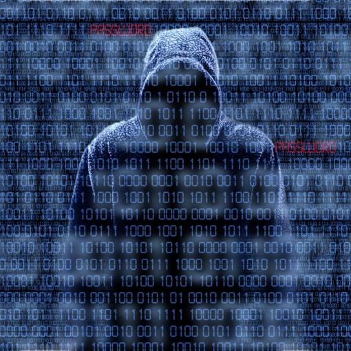 Hacker stealing a password