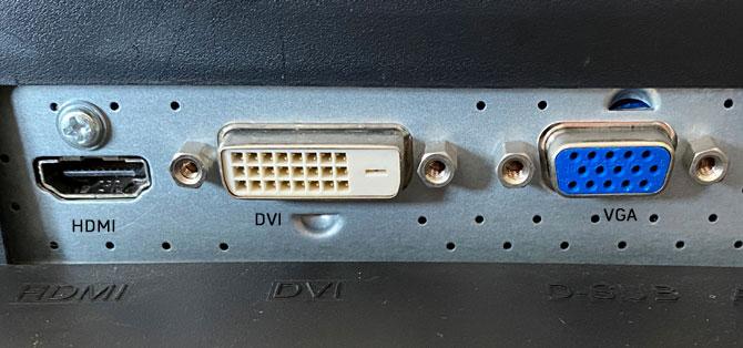VGA and DVI