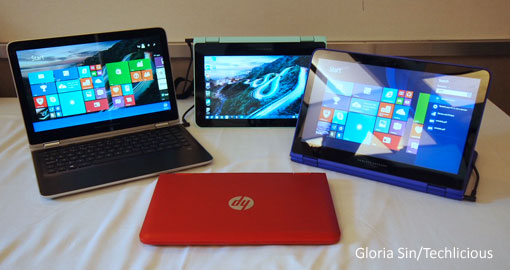 HP Pavilion x360 convertible laptops
